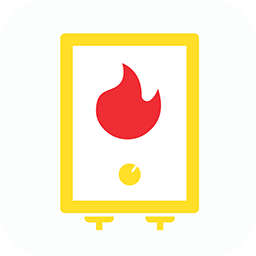 Gas pool heater icon