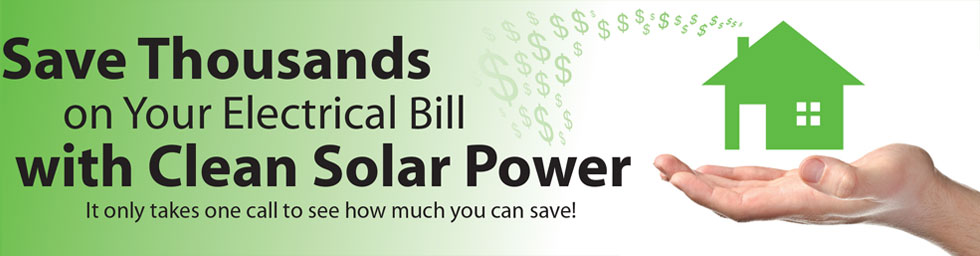 Solar power savings banner
