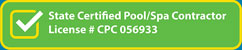 pool spa license